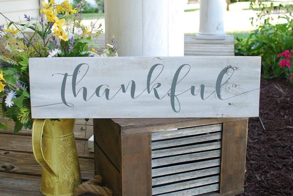 FREE U.S. SHIPPING!!!  Thankful pallet sign  I  Thanksgiving decor  I  fall decor