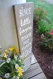 FREE SHIPPING!!!    I  Since little fingers touch our floors wood sign  I  No Shoes sign  I  front door sign  I  remove your shoes