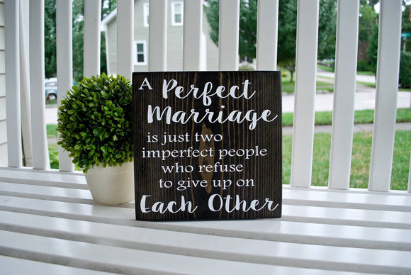 Wedding wood sign  I  anniversary  I  A perfect marriage