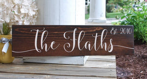 FREE U.S. SHIPPING!   Established wood sign  I  name sign  I  wedding gift