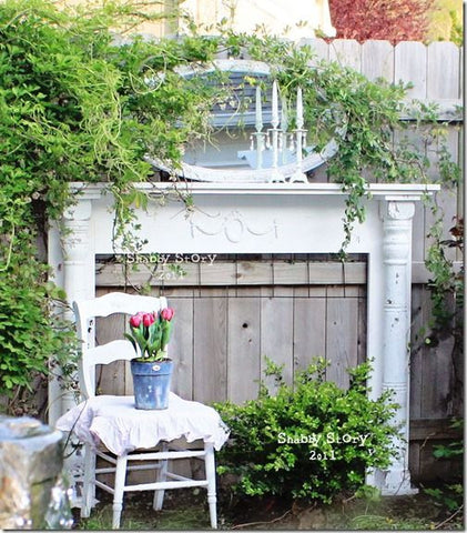 Outdoor mantel piece