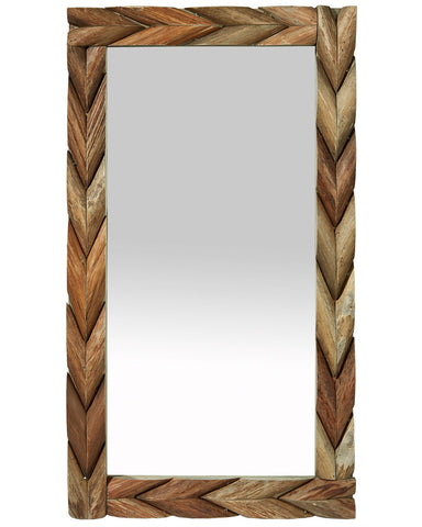 Large Mango Wooden Framed Mirror