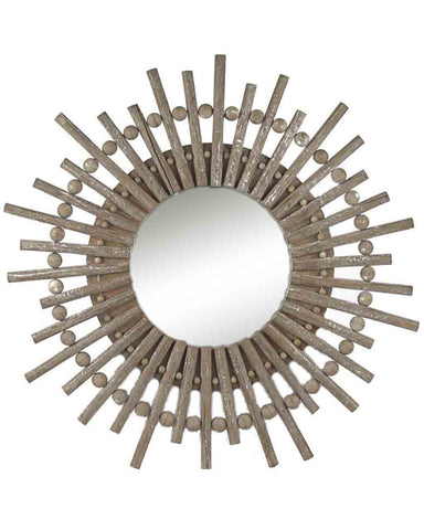 Alice Starburst Mirror, Wood Frame Dia:80cm