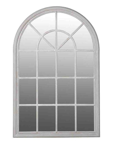 Arched Window Pane Mirror (Wood Frame