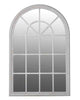 Arched Window Pane Mirror (Wood Frame, H: 151cm)