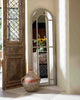 Arched Window Pane Mirror (Full Length Wooden Frame, H: 186cm)-lifestyle