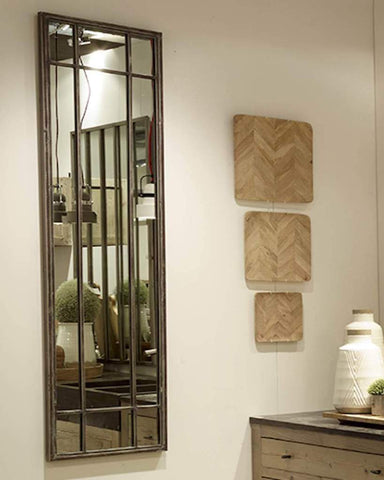 Atelier - Full Length Panelled Mirror (Metal Frame