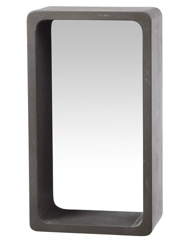 Atrium Concrete Shelf Wall Mirror H:46cm, Small