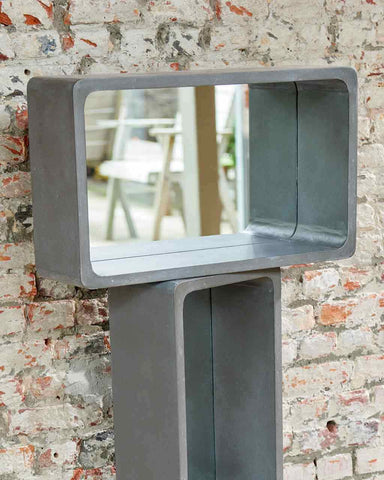 Atrium Concrete Shelf Wall Mirror H:53cm