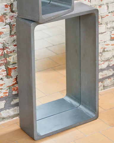 Atrium Concrete Shelf Wall Mirror H:63cm