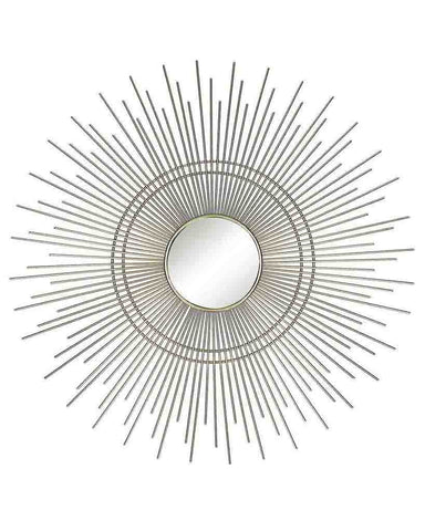 Aura - Starburst Wall Mirror (Gold Metal Frame, Dia:46cm)