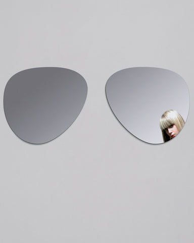 Aviator Sunglasses-Shaped Wall Sticker Mirror W:120cm