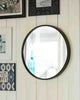 Boudoir - Large Round Wall Mirror (Black Metal Frame, Dia: 60cm)-lifestyle1