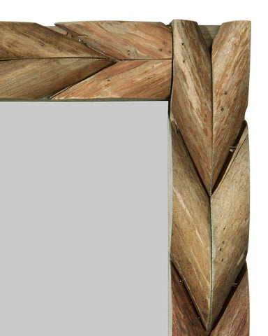 Bold striking chevron pattern of interlaced mango wood