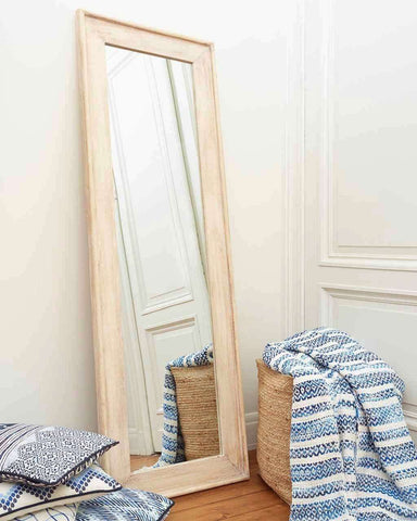 Classic Natural - Full Length Wall Mirror (Rectangular Wood Frame