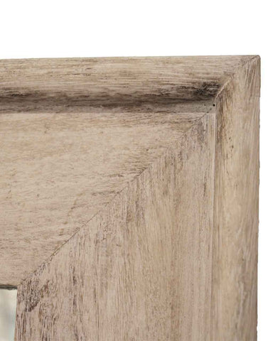 Classic Natural - Rectangular Wall Mirror (Wood Frame, Medium H:68cm)-detail