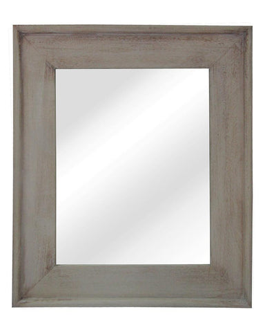 Classic Natural - Rectangular Wall Mirror (Wood Frame Medium H:68cm)