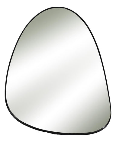 Codol - Pebble Shaped Wall Mirror (Metal Frame