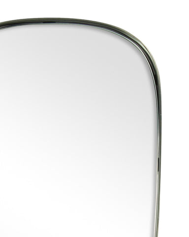 Colomba - Shield Shaped Metal Framed Wall Mirror H:60cm-detail