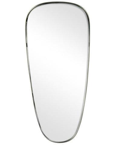 Colomba - Shield Shaped Metal Framed Wall Mirror H:60cm
