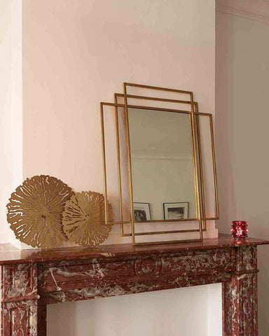 Empire - Rectangular Wall Mirror (Gold Metal Frame