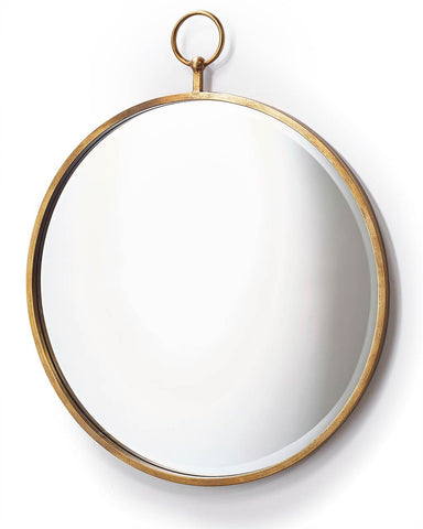 Fob Wall Mirror - Round Copper Frame H:93cm
