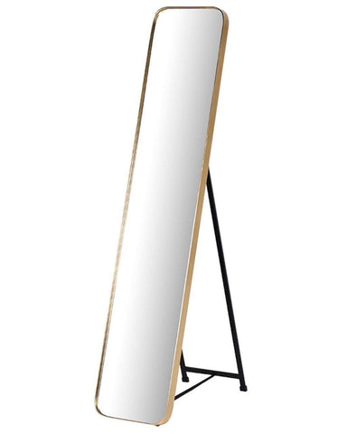 Full Length Cheval Dressing Mirror, Gold Frame H: 145cm