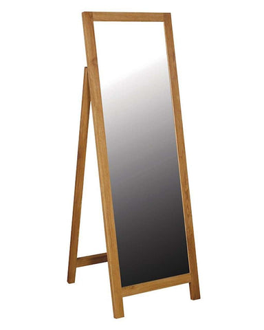 Full Length Cheval Dressing Mirror, Oak Frame H:158cm