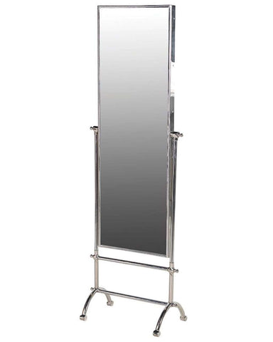 Full Length Cheval Dressing Mirror, Steel Frame H:148cm