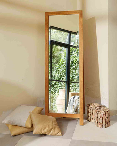 Full Length Dressing Mirror (Oak Frame