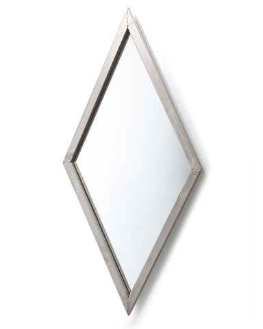 Gatsby Wall Mirror - Diamond Shaped Frame H:69cm-side view