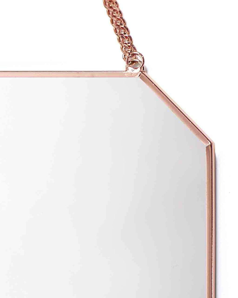 Shop Hanging Mirror on Chain (Octagon Shaped Copper Frame H:30cm) today