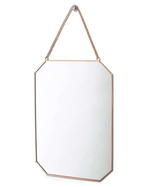 copper-framed-mirror-on-chain-octagon-shaped-h-30cm