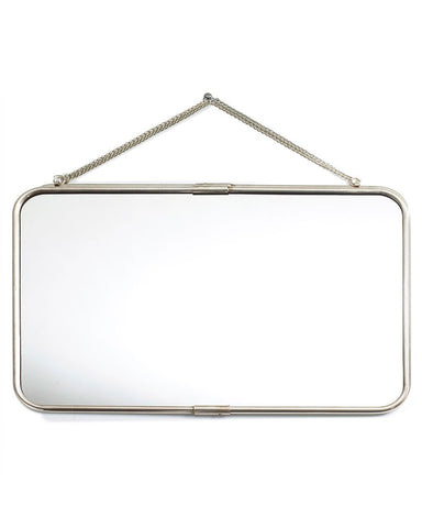Hanging Mirror with Chain - Landscape Frame W:57cm