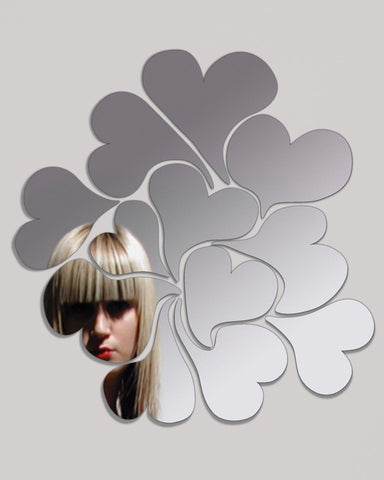 I Love Me - Mirror Wall Art Stickers with Heart Shapes H:50cm