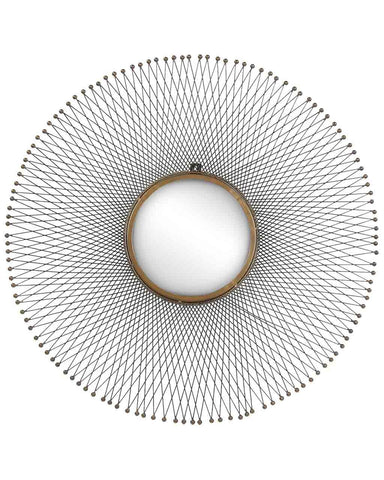 Isum Large Metal Sunburst Mirror Dia:85cm
