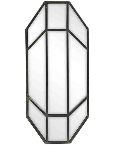 Jay - Panelled Wall Mirror (Antique Pewter Finish Frame, H:68cm)