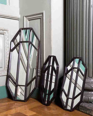 Jay - Panelled Wall Mirror (Antique Pewter Finish Frame