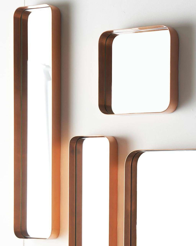 Shop Kelly - Rectangular Wall Mirror (Copper Frame, H:76cm) today