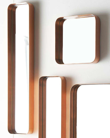 Kelly Rectangular Mirror - Copper Frame