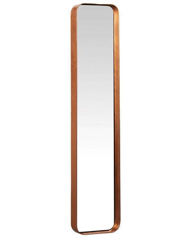 Kelly Rectangular Mirror - Copper Frame, Medium H:76cm