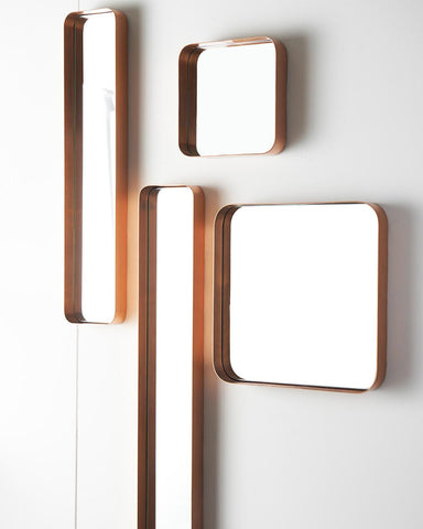 Art deco copper frame mirrors