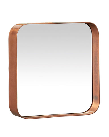 Kelly Square Mirror - Copper Framed, Small H:25cm
