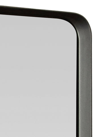 Kelly Square Mirror with Black Frame, Medium H:40cm-detail