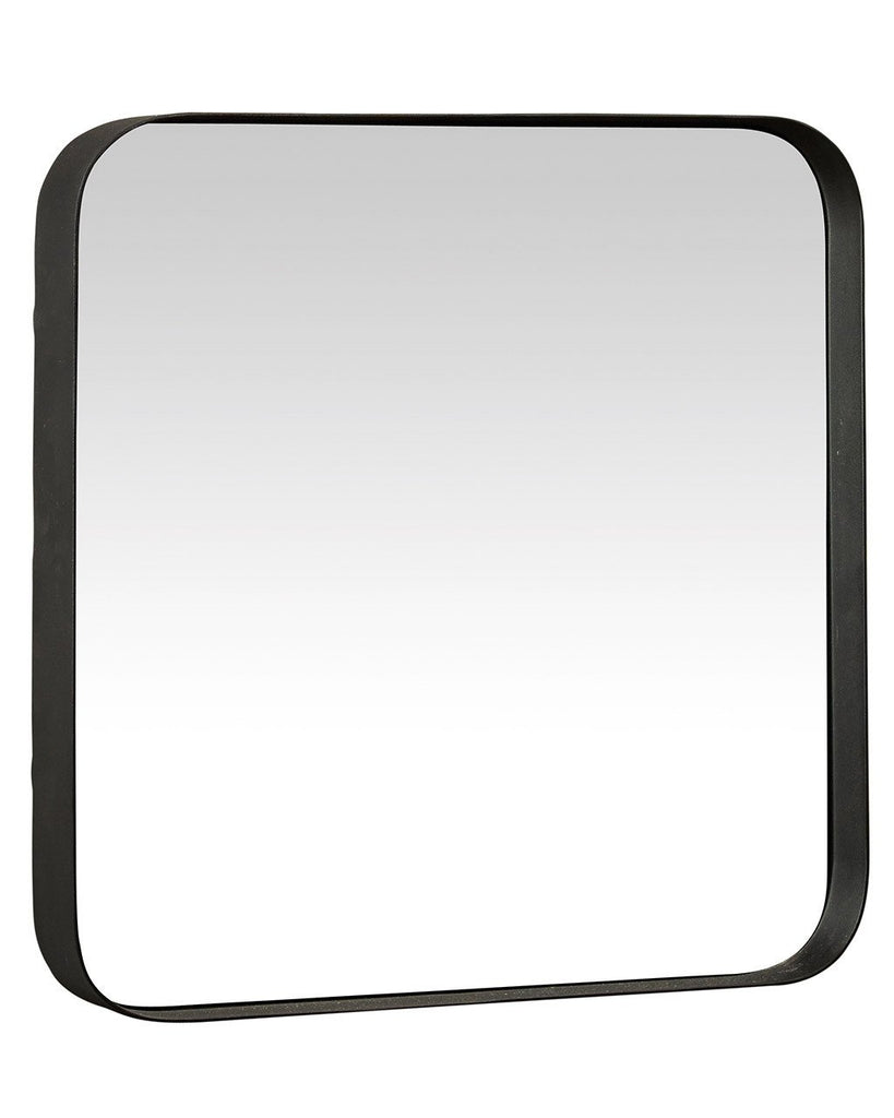 Shop Kelly - Square Wall Mirror (Black Metal Frame, H:40cm) today