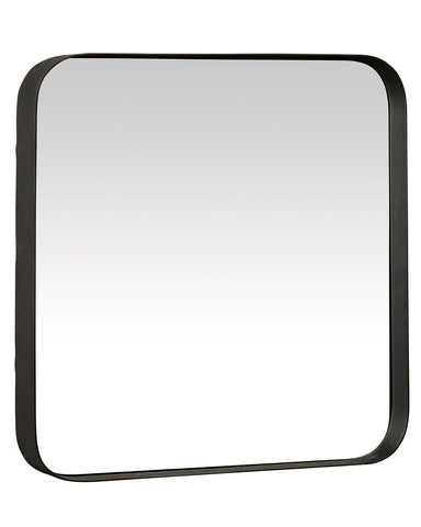 Kelly Square Mirror with Black Frame