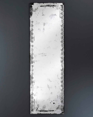 Large Full Length Wall Mirror - Distressed Glass Finish H:153cm