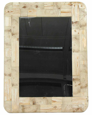 Livia - Large Recycled Wood Wall Mirror H:102cm