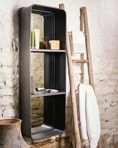 Loft - Rectangular Mirror with Two Shelves H:121cm-lifestyle
