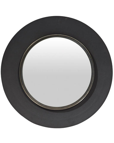 Lola - Round Wall Mirror, Large Black Frame Dia: 60cm-lifestyle-close up